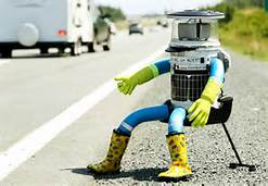 This is hitchbot. After traveling around the world, it was smashed in Philadelphia. A little like the Eagles playoff hopes...