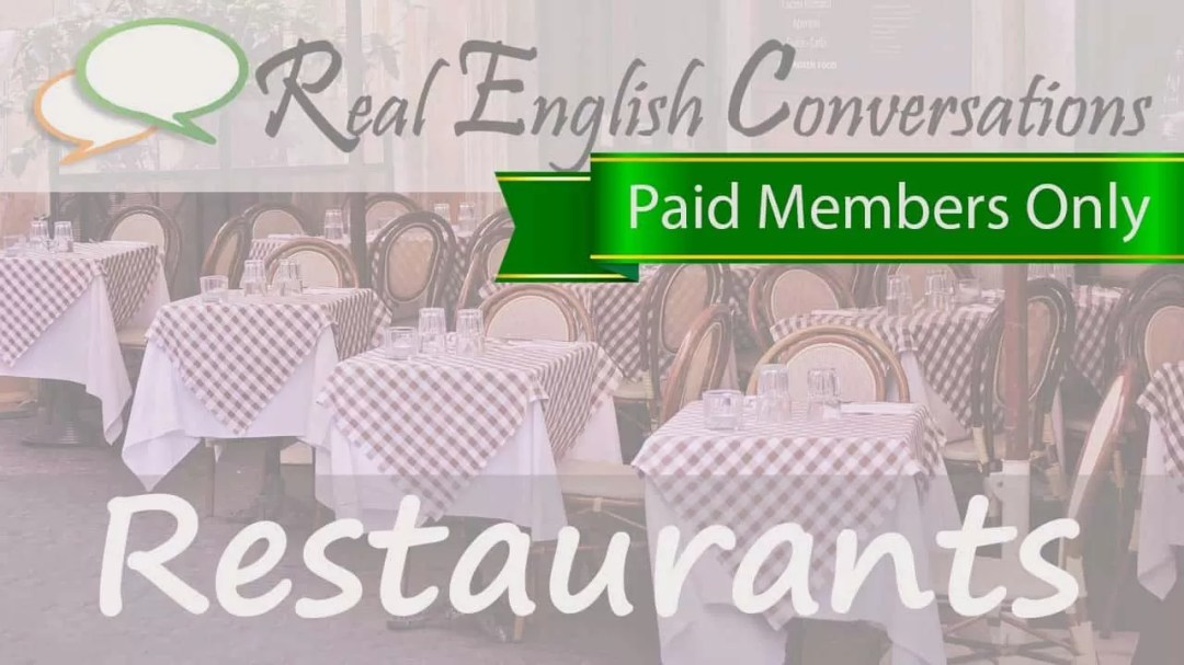 english conversations about restaurants