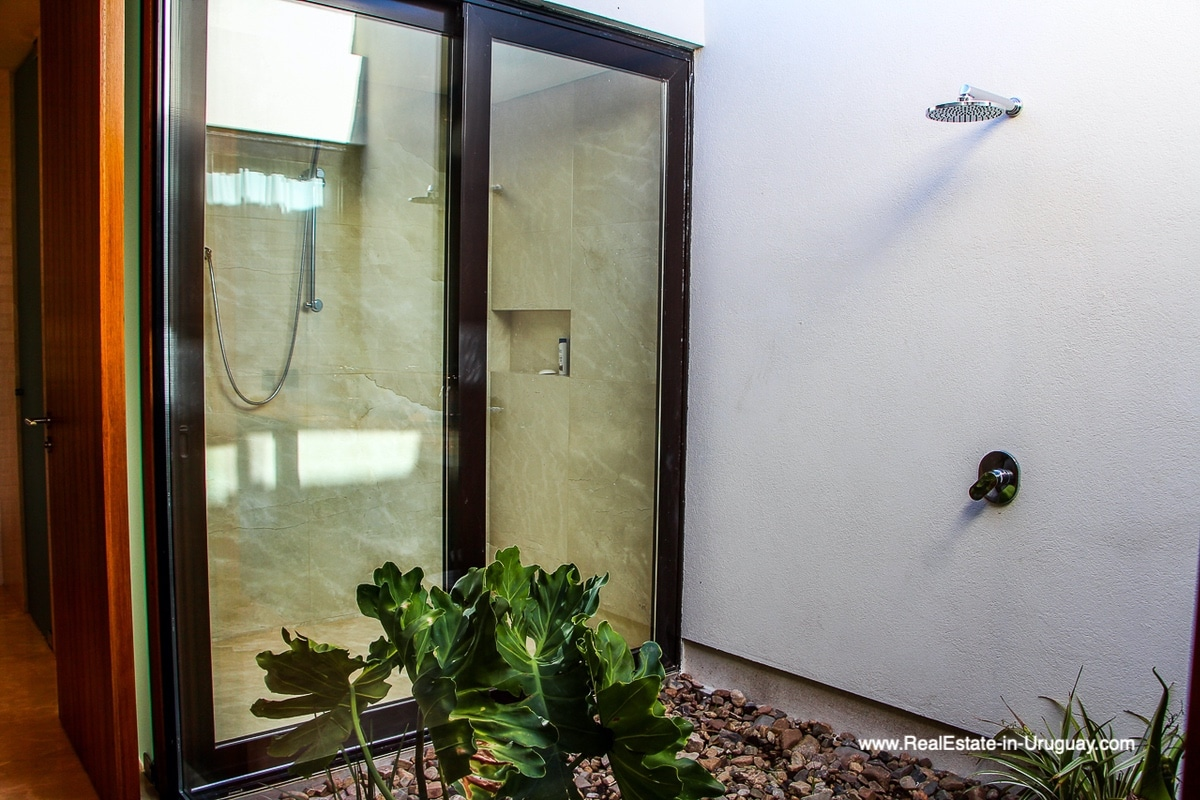 Master Shower of Harmonious and Unique Lifestyle by the Ocean in Las Carcavas