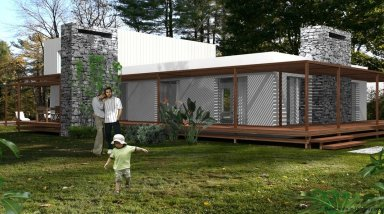 1396-Backyard-of-Modern-2-Story-House-Carrasco-Montevideo