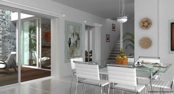 1396-Dining-of-Modern-2-Story-House-Carrasco-Montevideo