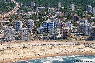 The coast of Punta Del Este Uruguay