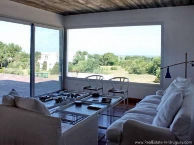 Beach House in Jose Ignacio Living Room with View