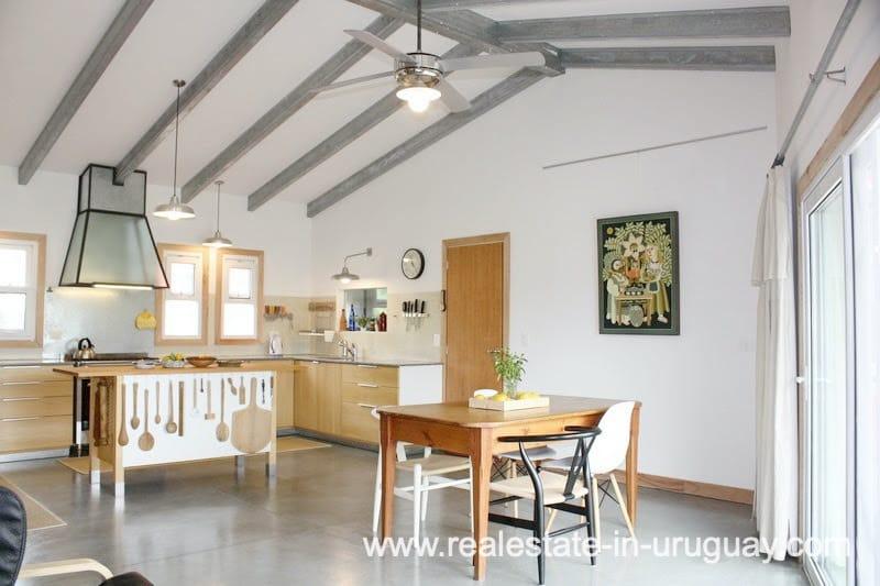 Dining area of Modern Sustainable Bio Chacra in Pueblo Eden New Built