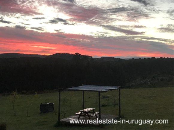 Sunset of Modern Sustainable Bio Chacra in Pueblo Eden New Built