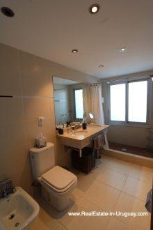 Bathroom of Bright Modern Apartment with Sea Views in Punta del Este