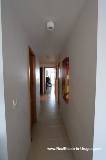 Hallway of Bright Modern Apartment with Sea Views in Punta del Este