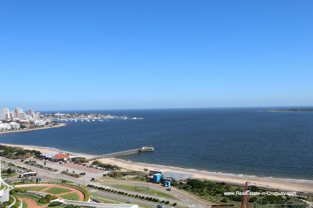 View to Harbor of Bright Modern Apartment with Sea Views in Punta del Este