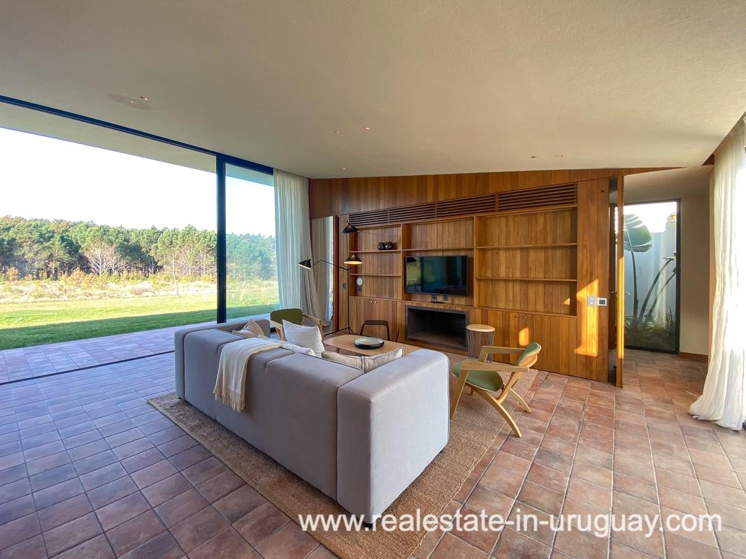 Living room of Las Carcavas