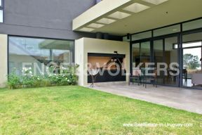 BBQ Area of Modern Home in the Gated Community Altos De La Tahona near Montevideo
