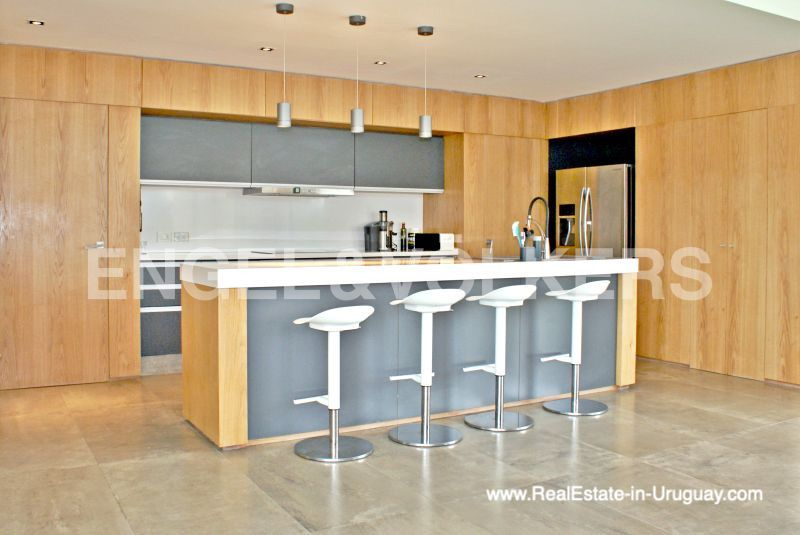 Kitchen of Modern Home in the Gated Community Altos De La Tahona near Montevideo