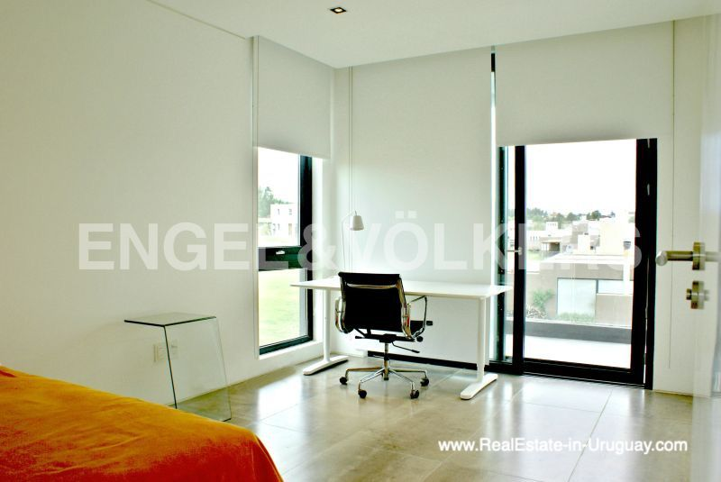Bedroom of Modern Home in the Gated Community Altos De La Tahona near Montevideo