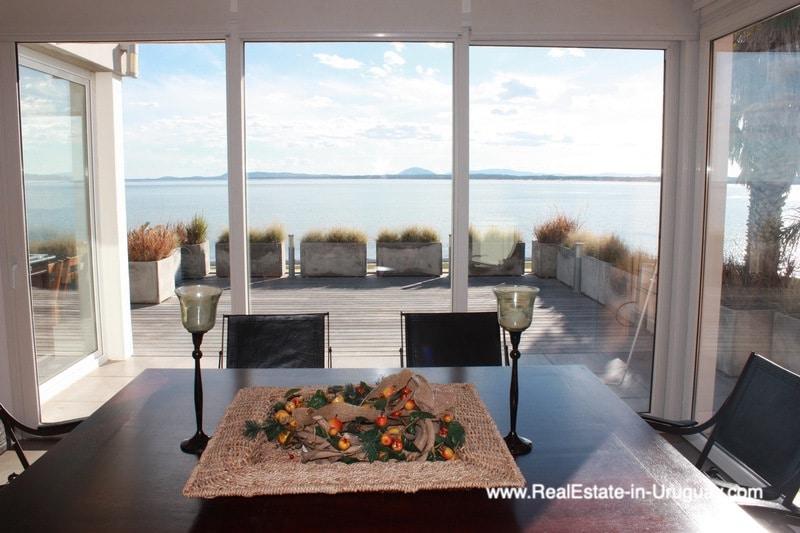 Dining Area of Ocean Frontline Home in Punta Ballena near Punta del Este