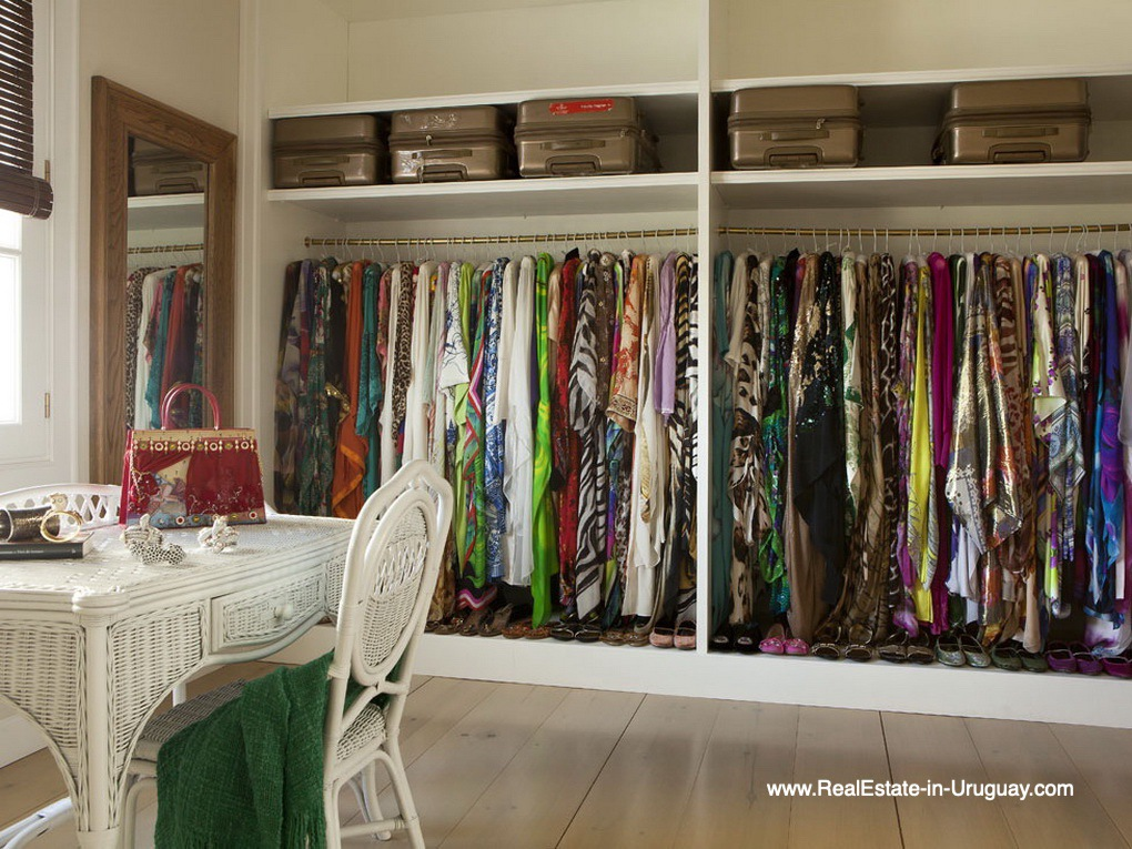 Closet of Luxury Country Ranch by Golf Course La Barra outside Punta del Este