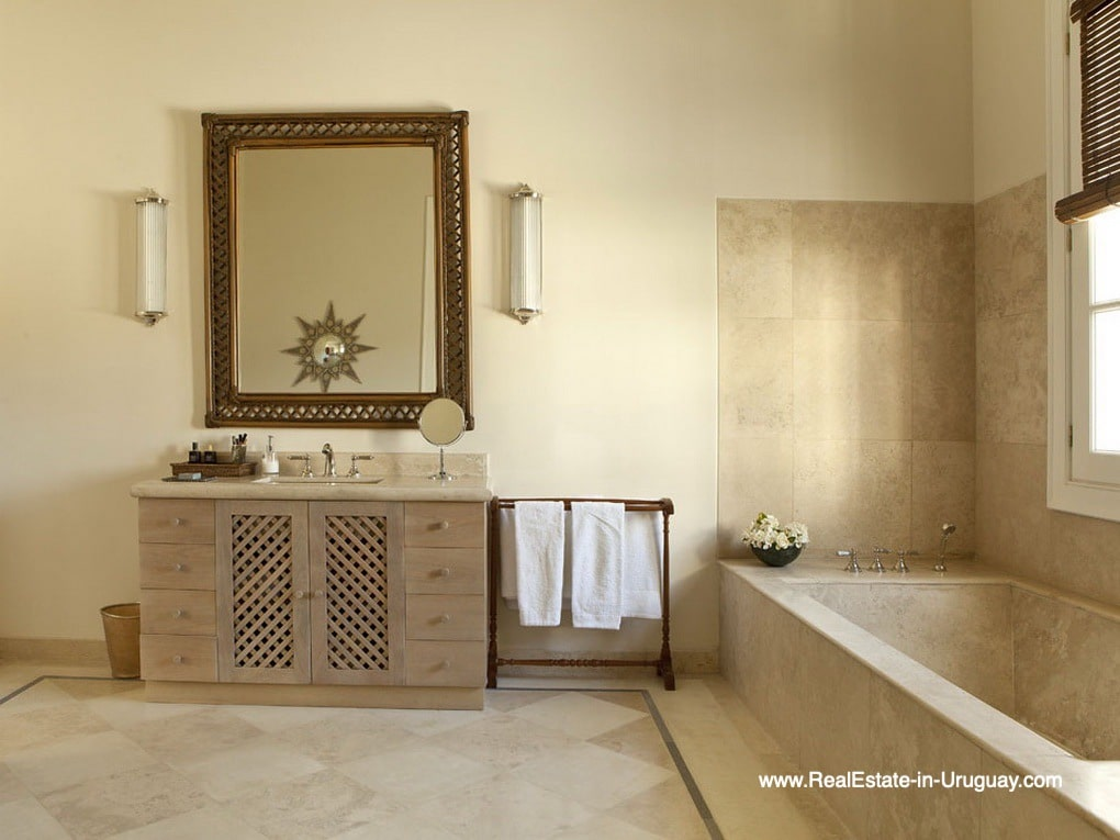 Bathroom of Luxury Country Ranch by Golf Course La Barra outside Punta del Este