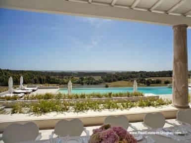 Views of Luxury Country Ranch by Golf Course La Barra outside Punta del Este