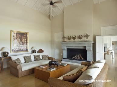Living Room of Luxury Country Ranch by Golf Course La Barra outside Punta del Este