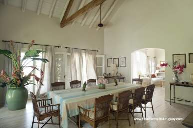 Dining Room of Country Style Ranch near the Golf Course of La Barra on 35 Hectares