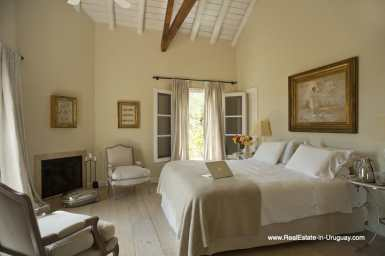 Master Bedroom of Country Style Ranch near the Golf Course of La Barra on 35 Hectares