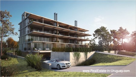 Outside of New Apartment Project Alma de Manantiales by Architect Martin Gomez in Manantiales