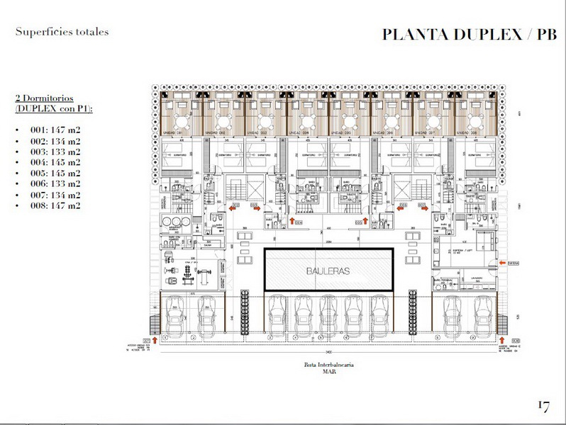 Plan 2 of New Apartment Project Alma de Manantiales by Architect Martin Gomez in Manantiales