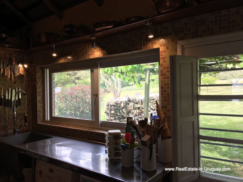 Kitchen View of One of the Best Spots on Laguna del Sauce by Punta Ballena
