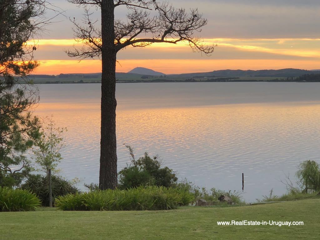 Lake and Sunset of One of the Best Spots on Laguna del Sauce by Punta Ballena