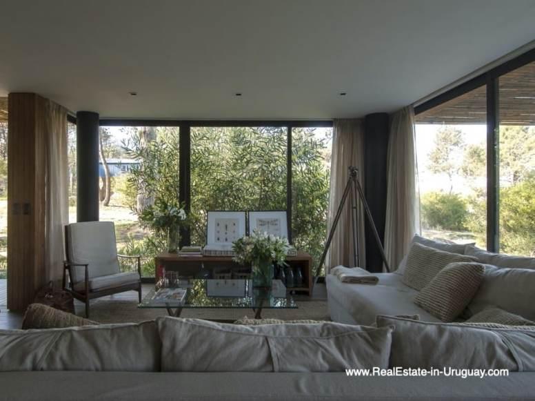 Living Room of Modern Bungalow in La Juanita at the Entrance of Jose Ignacio near Casagrande
