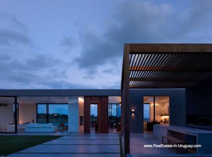 Courtyard of Modern Home in Gated Community Villalagos outside Manantiales
