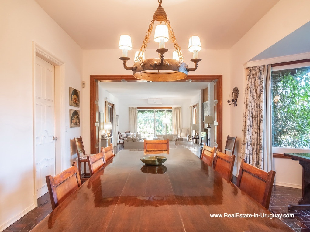 Dining Room of Large Property in the El Golf Area in Punta del Este