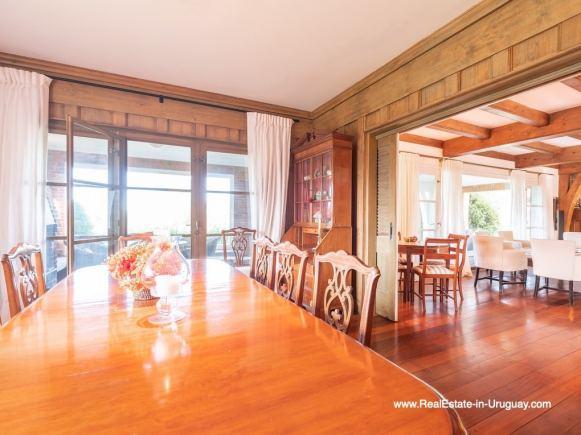 Dining Room Magnificent House in El Golf in Punta del Este