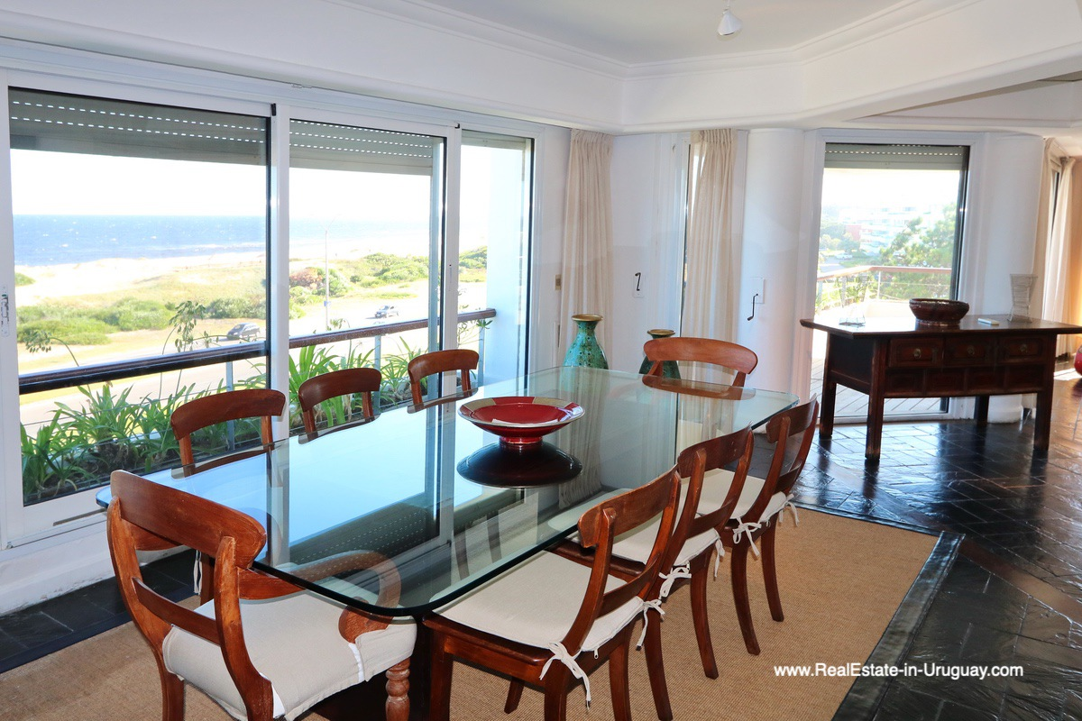 Dining in Penthouse with Ocean Views on Brava in Punta del Este
