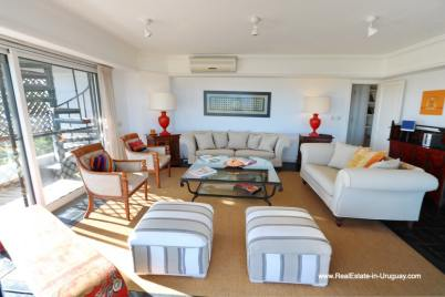 Sitting Area of Penthouse with Ocean Views on Brava in Punta del Este