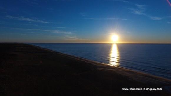 Sunrise over Las Carcavas, Rocha
