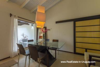 Dining Area of Renovated Pool House in La Barra