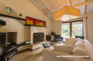 Living room of Renovated Pool House in La Barra