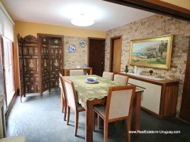 Dining Room of Family Home on the Mansa Beach in Punta del Este