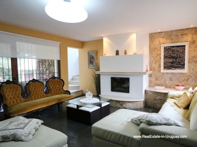 Fireplace of Family Home on the Mansa Beach in Punta del Este