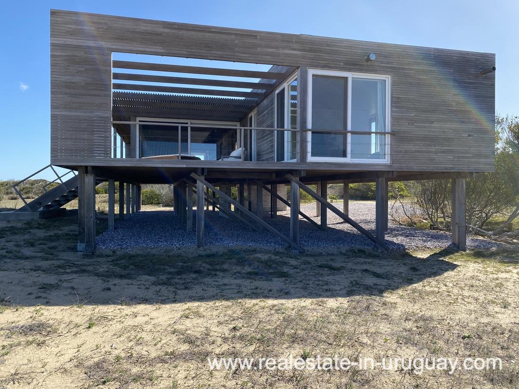 Side House of Frontline Beach Home in San Antonio close to La Pedrera in Rocha with Sea Views