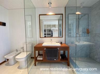 Master Bathroom Frontline Beach Home in San Antonio close to La Pedrera in Rocha with Sea Views