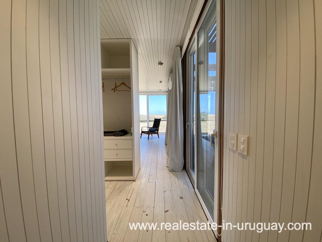 Mastersuite of Frontline Beach Home in San Antonio close to La Pedrera in Rocha with Sea Views