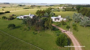 Aerial of Country House in Jose Ignacio with Lagoon Views