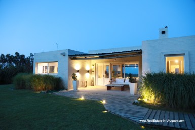 Outside of Country House in Jose Ignacio with Lagoon Views