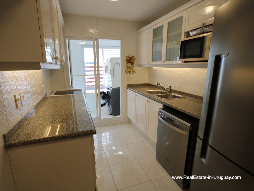 Kitchen of Apartment on the Mansa Beach in Punta del Este