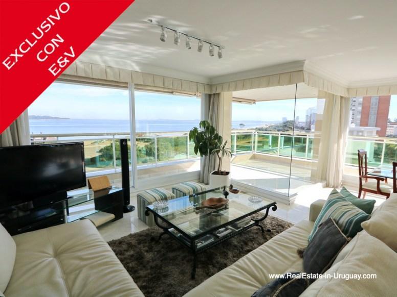 Living Room of Apartment on the Mansa Beach in Punta del Este