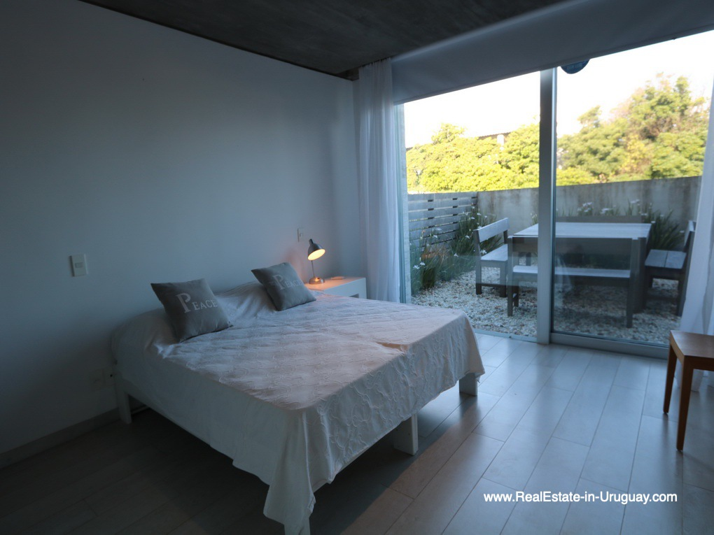 Guest Bedroom of Beach Townhouse in La Barra by the Ocean