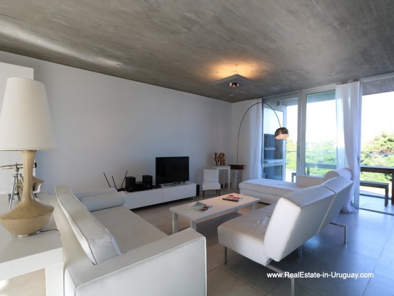 Living Room of Beach Townhouse in La Barra by the Ocean