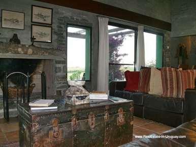 Living room of Large Estate near Jose Ignacio with 70 Hectares Land
