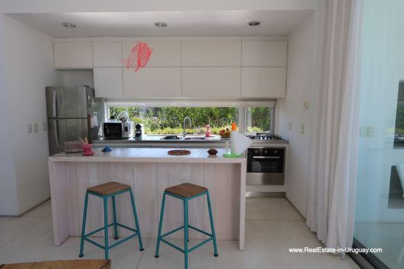 Kitchen of Modern Home in Santa Monica near Jose Ignacio on the Lagoon