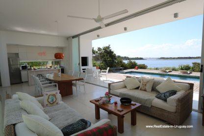 Living room view of Modern Home in Santa Monica near Jose Ignacio on the Lagoon